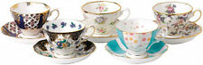 100 YEARS OF ROYAL ALBERT 5 x CUPS & SAUCERS 1900-1940