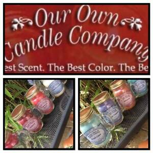 Wax Melts Our Own Candle Company Mason Jar Candles Various Scents