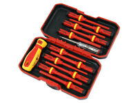 13pc VDE Screwdriver set 1000v Insulated Interchangeable Bits GS/TUV Approved