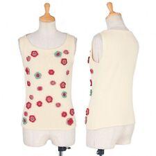 (SALE) Jocomomola embroidery knit sleeveless Size 40(K-26756)