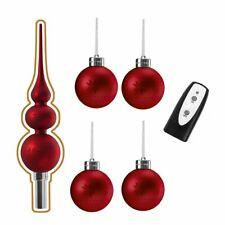 Weihnachtskugeln rot 2er SET glänzend und matt Baumschmuck Baumhänger