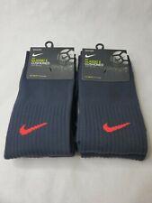 Nike Classic Soccer Socks Academy Cushioned OTC Dri Fit 2 pairs Black Medium