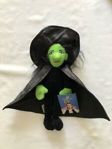 Wicked Witch of the West, Wizard of Oz, Warner Bro's. Plush Doll Green Witch.