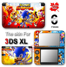 Sonic Boom Fire and Ice Hedgehog Skin Sticker Decal Cover for Original 3DS XL
