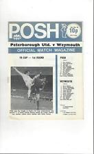 Peterborough United v Weymouth FA Cup Football Programme 1974/75