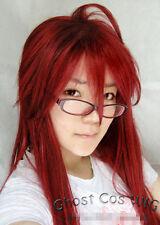 Kuroshitsuji Black Butler Grell Sutcliff Cosplay Perücke wig lang Rot red locken