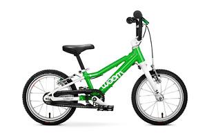 """Woom 2 Kids Bike Green New NIB Kickstand Chainguard 14"""""""