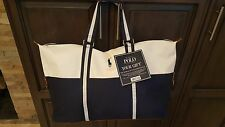 Ralph Lauren Polo Blue & White Large Duffle Bag / gym Bag / weekender / travel