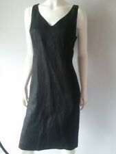 Lauren by Ralph Lauren Sleeveless Belted V-neck Shift Dress Black Size 12 8 10 6 14
