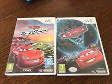 Lot jeux Nintendo wii fra cars race o rama +cars 2(lire description)