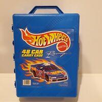 Vintage 1999 Hot Wheels Racing - 48 Car Carry Collectors Case