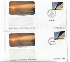UK Elizabeth II envelope / covers x 2, 1983 Engineering stamps