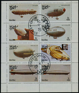 State of Oman m/s used (cto) - Airships, Zeppelins