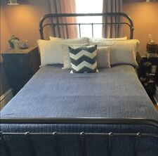 Pottery Barn Midnight Honeycomb Cotton Duvet Cover King Size