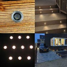 10x IP67 15mm LED Warm White Decorative Plinth Kitchen, Porch Garden Lights