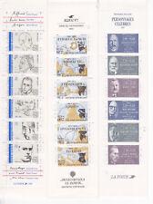 France lot de 3 carnets  célébrités  1987-88-91