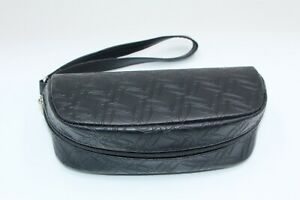 NEW OAKLEY AUTHENTIC EYEGLASSES SUNGLASSES BLACK SOFT LEATHER ZIPPER CASE ONLY