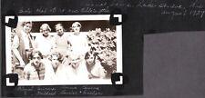 VINTAGE PHOTOGRAPH FLAPPER GIRLS HAIR ELEANOR CAMP LAKE GENEVA WISCONSIN PHOTO
