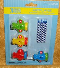 Airplane Cupcake Candle Holder Toppers,Bakery Crafts,Plastic/Wax,Decoration