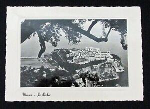 Vintage Real Photo Postcard Monaco La Cote d'Azur Le Rocher