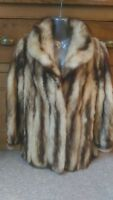 B1 new design real Fitch blond sable fur coat