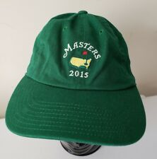 18bedc677d4 Masters Tournament 2015 Green Licensed Embroidered Golf Baseball Hat Cap  Mens