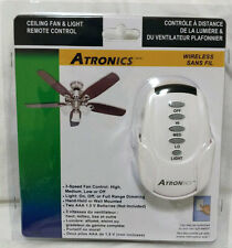 New Atronics Ceiling Fan Remote Control Kit with Receiver incandescent LED CFL