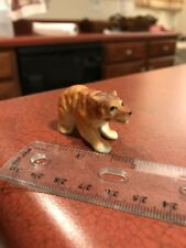 "Vintage Ceramic Painted Grizzly Bear Growling 1"" Figure Statue FREE SHIPPING"