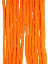 Orange Dreadlocks - 16 Handmade felted merino wool double ended dreads