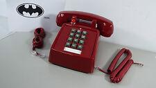 NEW RETRO RED PHONE PUSH BUTTON DESK TELEPHONE VINTAGE BATMAN LOOK (GENERIC) T19