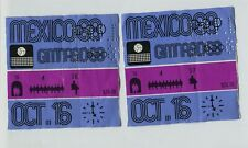 Pair Vintage Tickets 1968 Summer Olympics Mexico Volleyball