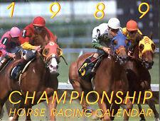 1989 Championship Horse Racing Calendar EX 022616jhe