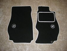 Nissan 350Z (2002-2009) Car Mats in Black/Silver trim + Z/350Z Logos + Fixings