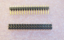 QTY (25) 34 PIN DUAL ROW (17X2) HEADERS TSW117-07-G-D SAMTEC GOLD FLASH CONTACTS