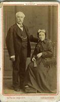 MALBRET CARCASSONNE Couple femme éventail fashion homme CDV photo circa 1880