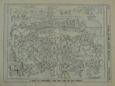 PUNCH cartoon 1890 A SALE OF YEARLINGS last of season