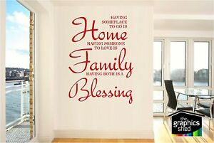 Home Family Blessing VINYL WALL QUOTE , VINYL STICKER, WALL ART