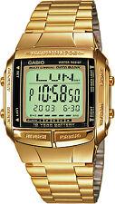 CASIO GOLD TONE DATA BANK MEN'S  DB360G-9A WRIST WATCH