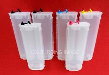 6 pcs Refillable Empty Ink Cartridges For HP 72 Designjet T610 T1100 T1120 CISS