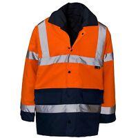 EN20471 Class 3 Blackrock 80013 Orange//Navy High Visibility Two Tone Coat