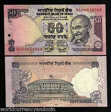 INDIA 50 RUPEES P90 2006 * STAR 0CC REPLACEMENT GANDHI TIGER UNC MONEY BANK NOTE