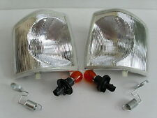 LAND ROVER DISCOVERY 300TDI CLEAR INDICATORS FRONT PAIR - NEW INDICATOR LAMPS