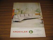 1959 Print Ad Kroehler Sofa Valentine Seaver Originals
