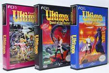 Ultima Exodus, Quest of Avatar, Warriors of Destiny - NES Custom Cases, NO GAMES