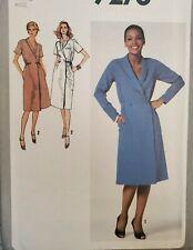 Vtg Simplicity pattern 9278 Misses' front button Front-Wrap Dress size 10 uncut