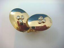 14K YELLOW GOLD MEN'S CUFFLINKS WITH BEZEL SET DIAMONDS, 9.3 GRAMS.