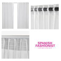 IKEA VIVAN Curtains, 1 pair, white 145x150 cm