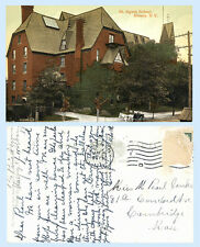 St Agnes School Albany New York 1911 Building Postcard Horse Carriage - Scarce