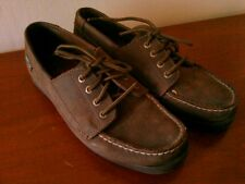 Women's Eastland Suede Leather Falmouth Boat Shoe, Bomber Brown, Size 7M