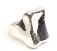 RLM Studio Sterling Silver Ring Robert Lee Morris Modernist Square Sz 8 Heavy